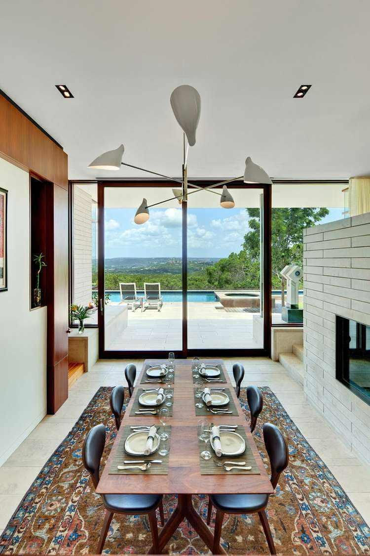 comedores ideas elegir forma color alfombra mesa madera moderna