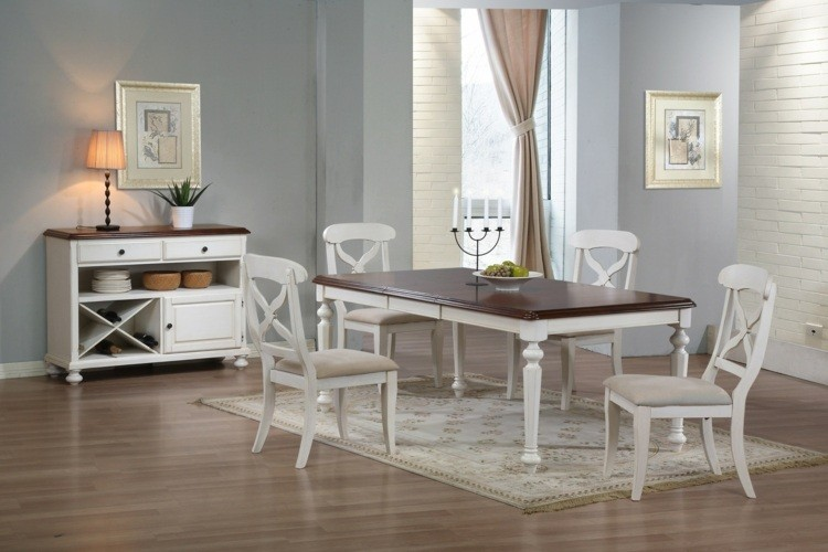 comedores ideas elegir forma color alfombra muebles madera blanca ideas
