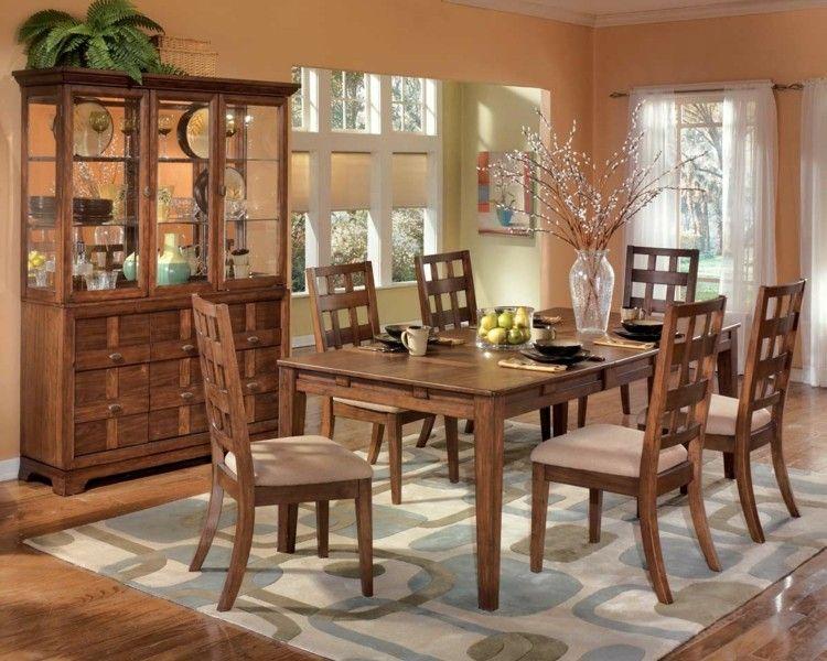 comedores ideas elegir forma color alfombra muebles madera moderno