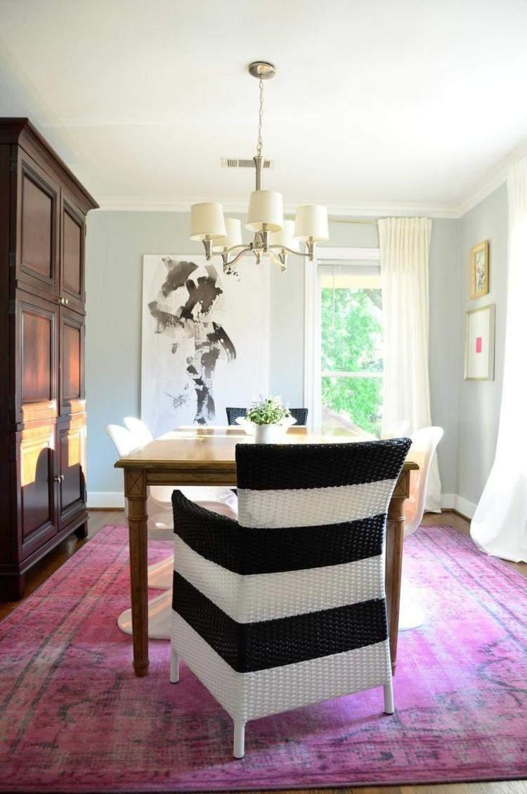 comedores ideas elegir forma color alfombra purpura vintage moderno