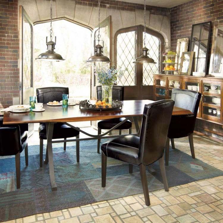 comedores ideas elegir forma color alfombra sillas cuero moderno