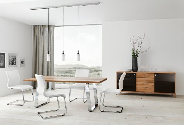 comedores modernos ramas sillones blanco