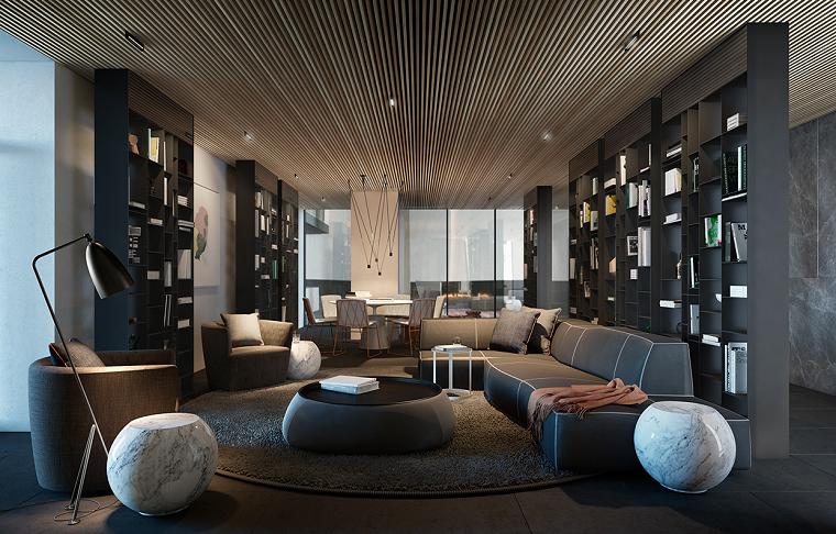 como decorar un salon ideas marmoles moderno