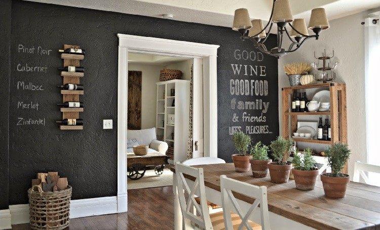Decoracion vintage para cocinas salones y dormitorios - Decoracion paredes salones ...