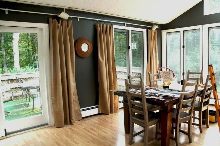conjunto muebles color marron