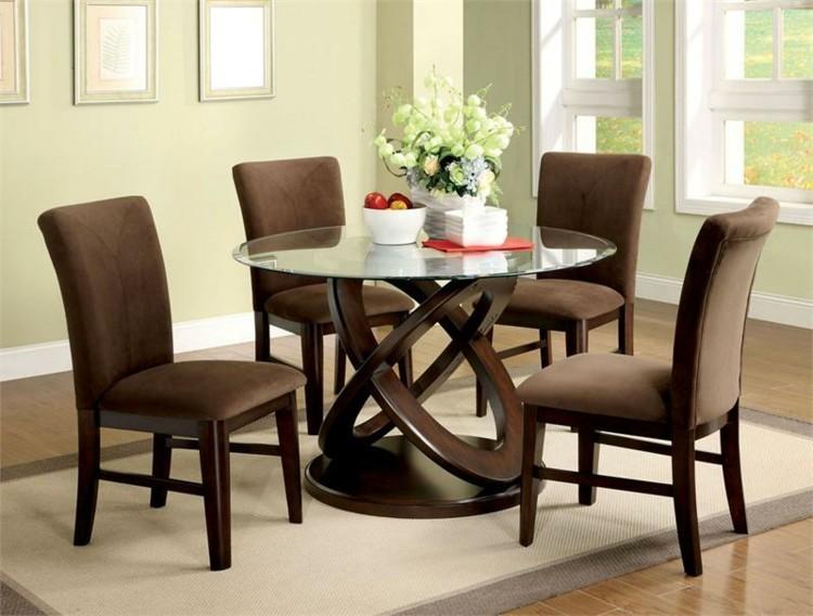 conjunto muebles comedor color marron