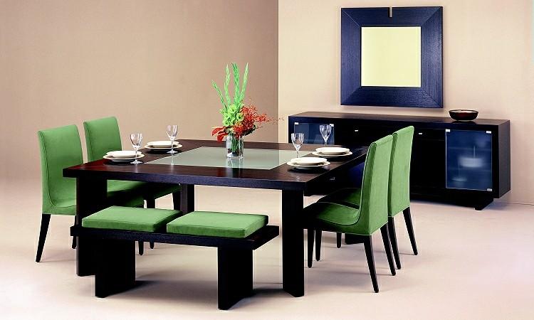 conjunto muebles color verde azul