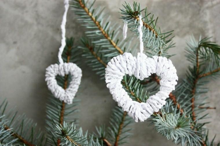 corazones adornos tela blanca ideas