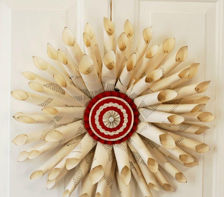 Manualidades navide as y adornos originales 50 ideas - Coronas navidenas faciles ...