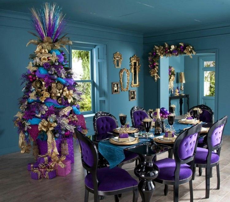 corona decoracion comedor dorados ideas