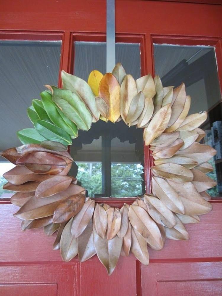 coronas otoño frutas ideas cristales flores