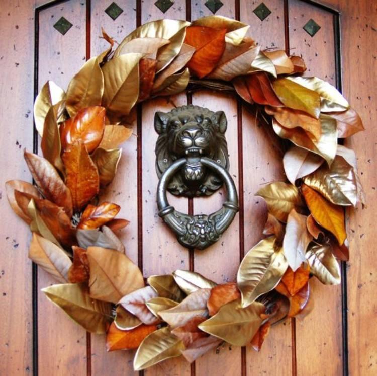 coronas otoño frutas ideas espiga leon dorado