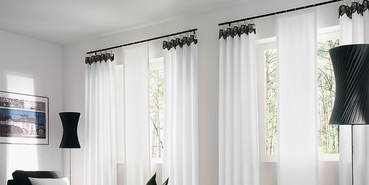 Cortinas para sal n 35 ideas encantadoras for Cortinas blancas
