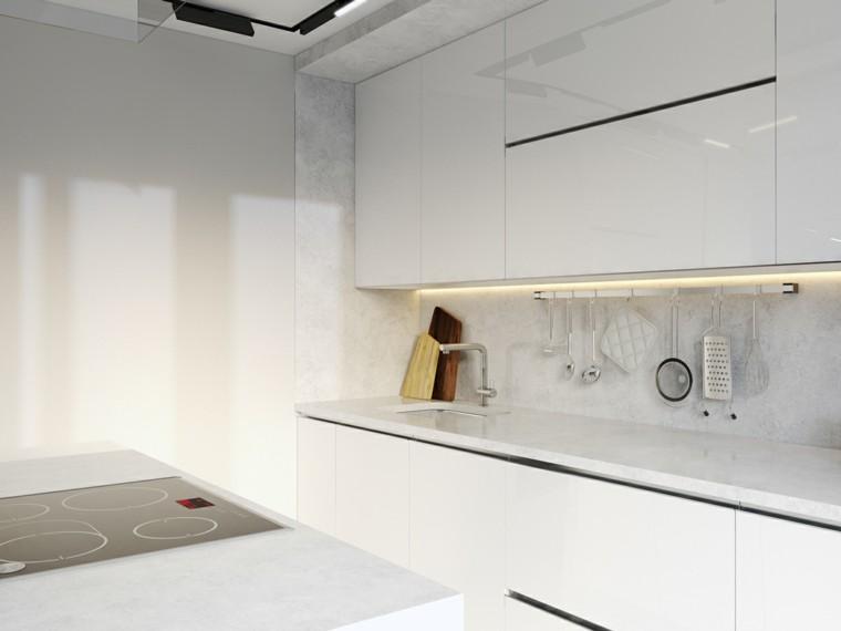 cortinas cocinas diseño estantes pulidos