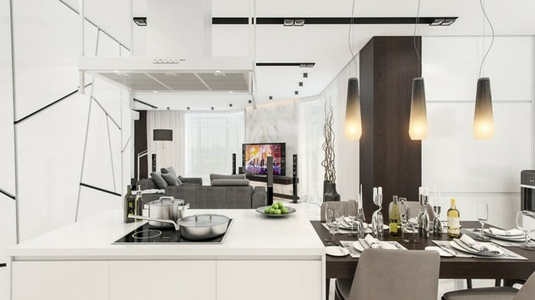 cortinas cocinas diseño lamparas materiales