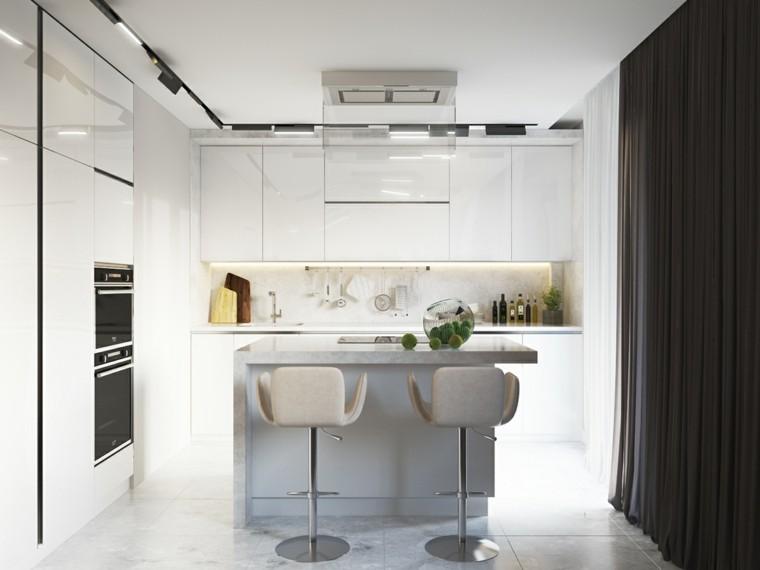 cortinas cocinas diseño respaldo pequeño