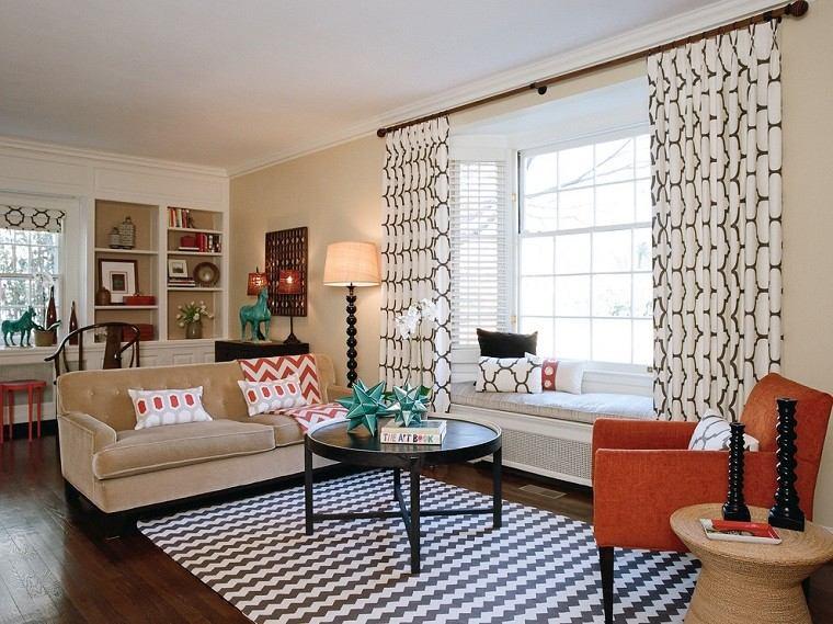 Cortinas Para Salon Con Muebles Oscuros.Cortinas Para Salon 35 Ideas Encantadoras
