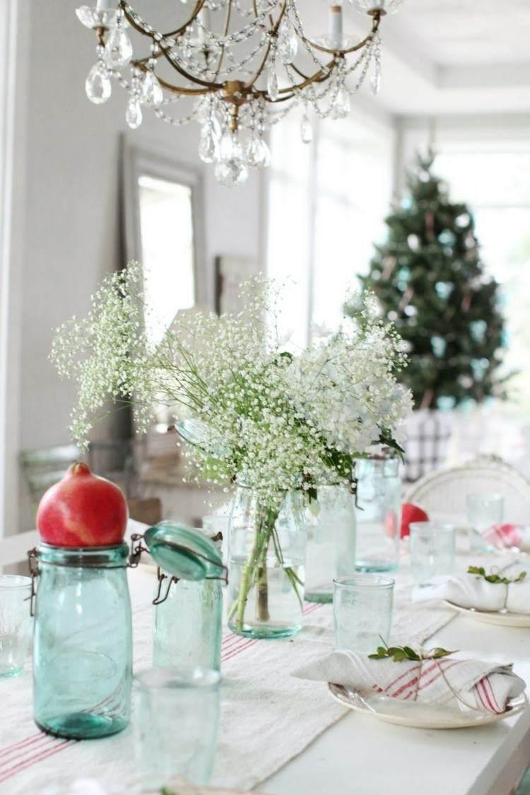 cristales vajilla decorado frutas lamparas