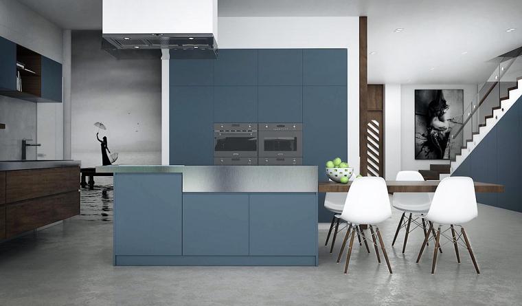cuadros creativa diferente maderas azul