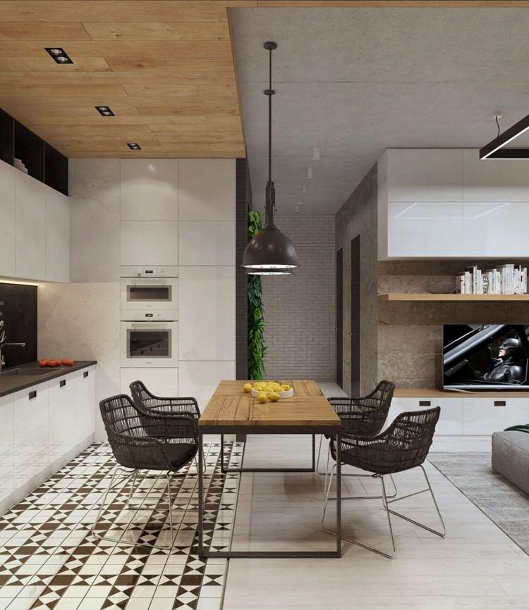 cuadros diseño madera oscuro techo