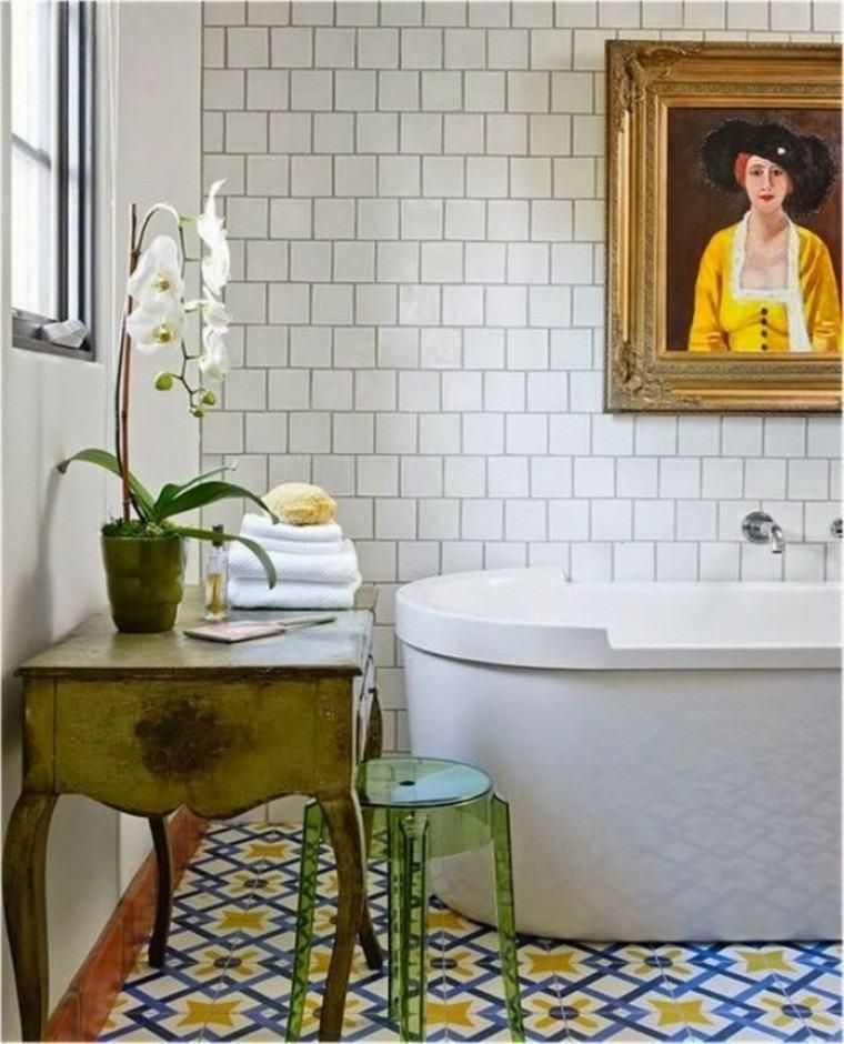 cuarto baño decoracion vintage