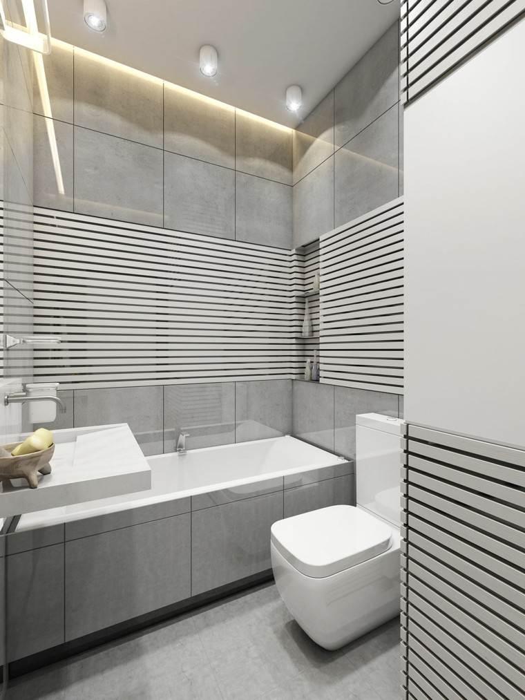 cuarto baño deseño estilo listones blanco