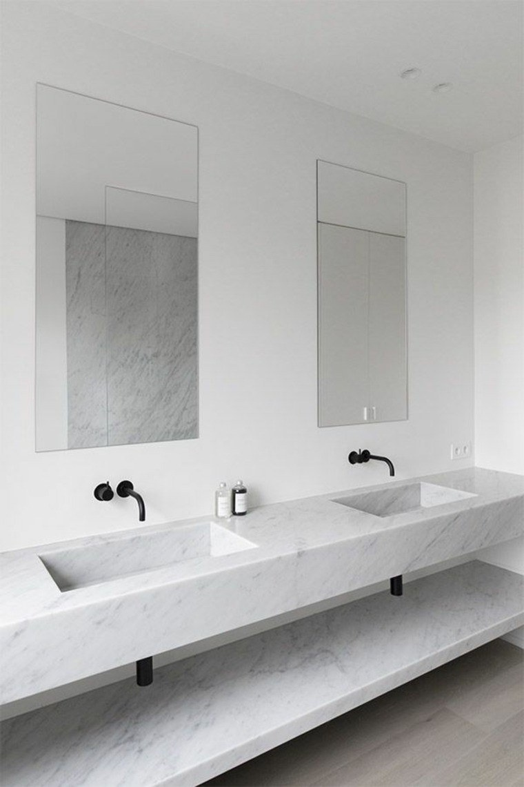 cuartos bano marmol estilo minimalista ideas