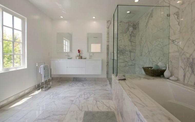 cuartos de baño marmol amplio luminoso ideas