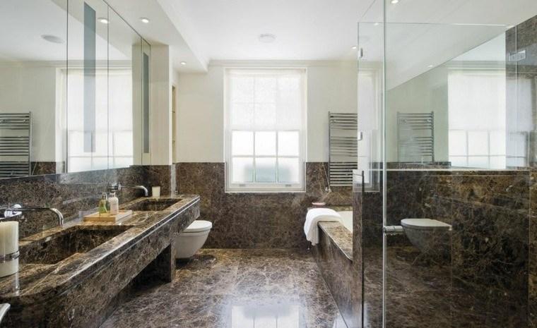 cuartos de baño marmol color negro ideas