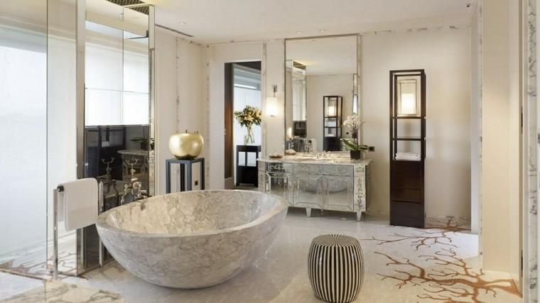 cuartos de baño marmol diseno moderno ideas