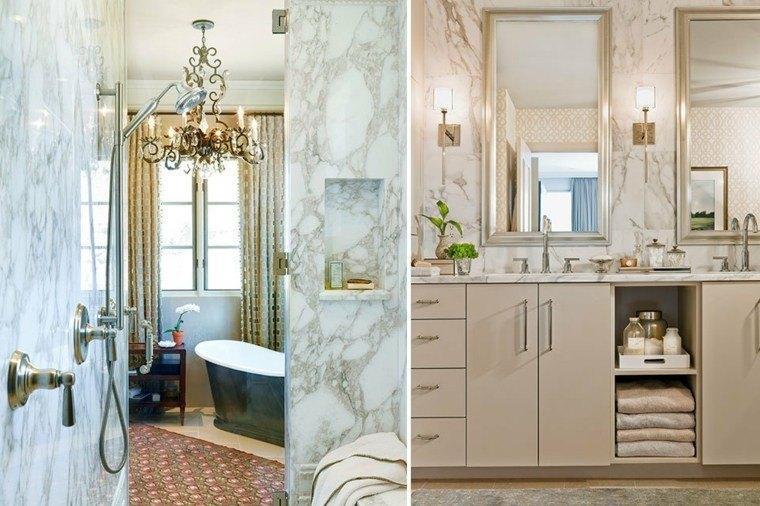 cuartos de baño marmol dos opciones ideas