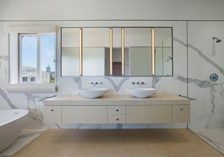cuarto de baño marmol estilo contemporraneo ideas