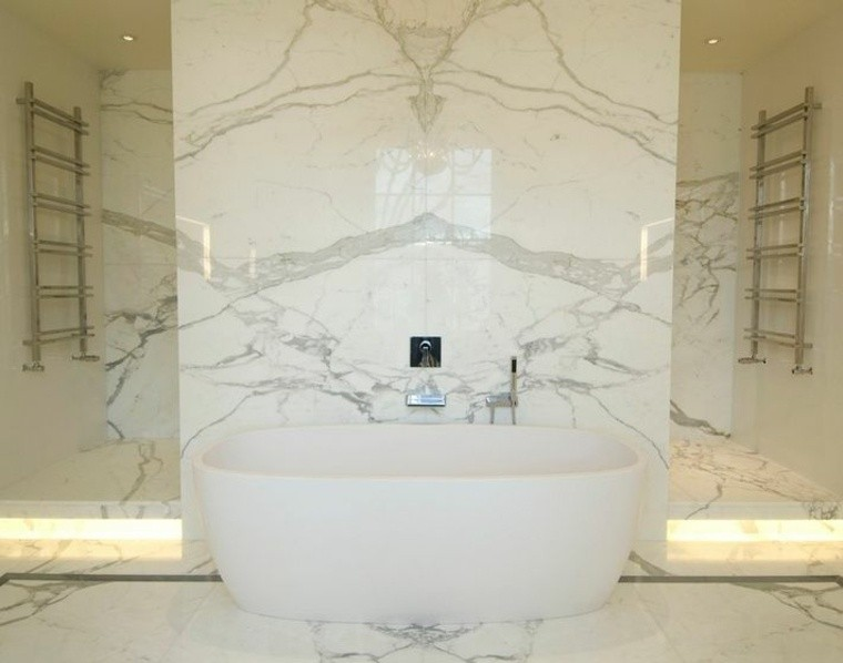 cuarto de baño marmol iluminacion led ideas