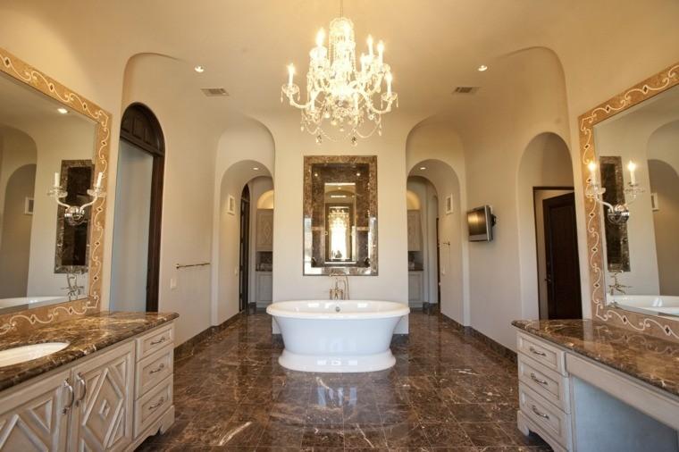 cuarto de baño marmol lamapara preciosa ideas