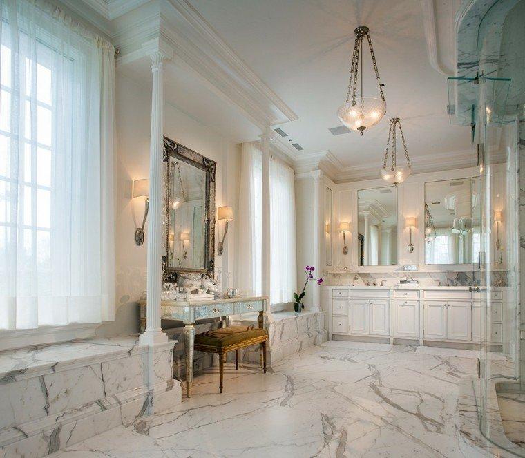 cuartos de bano marmol lujosos elegante ideas