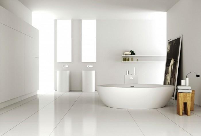 cuartos de bano modernos blanco minimalista ideas