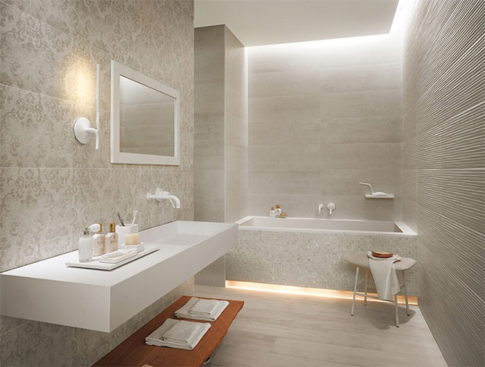 Ideas Originales Baño:Patterned Bathroom Tiles