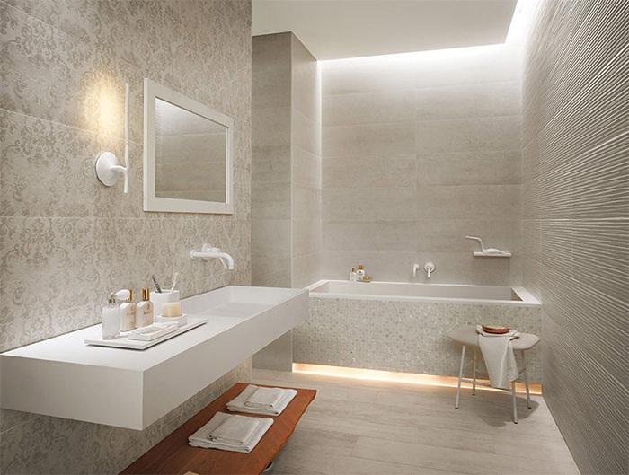 cuartos de bano modernos estante madera ideas