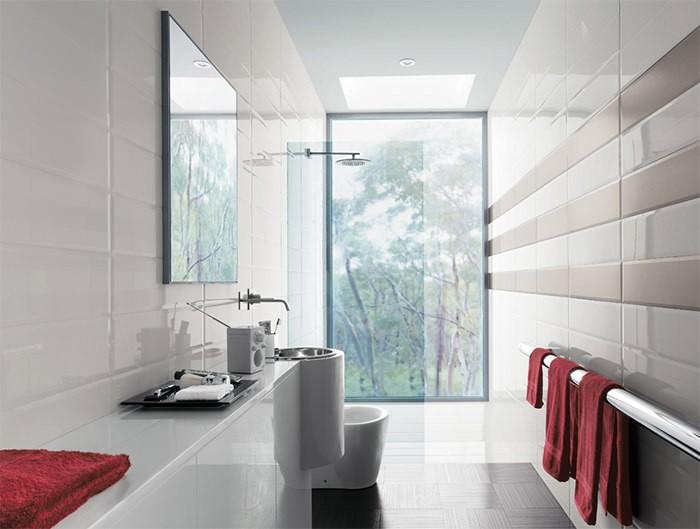 cuartos de baño modernos estrecho luminoso ideas