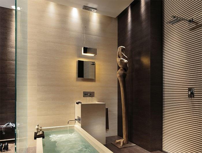 cuartos de baño modernos figura decorativa ideas