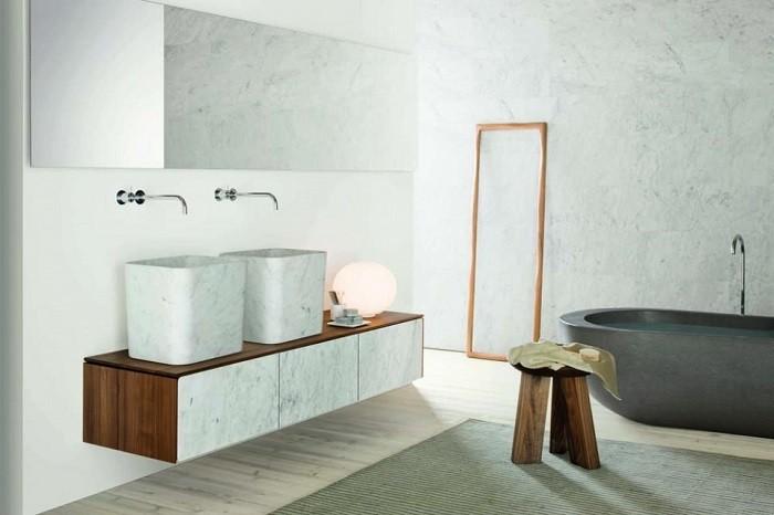 cuartos de baño modernos lavabo banera marmol ideas