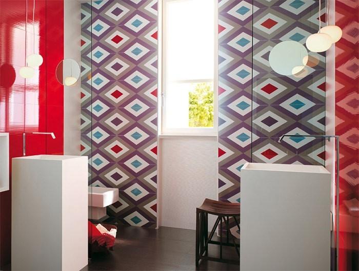 cuartos de baño modernos losas colores ideas