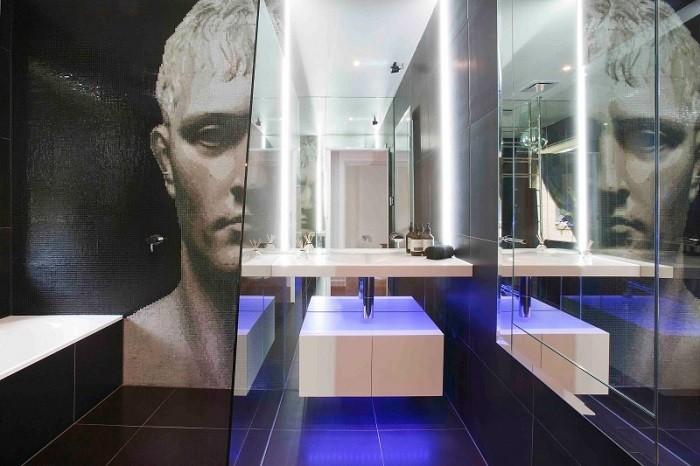cuartos de bano modernos mosaico precioso pared ideas
