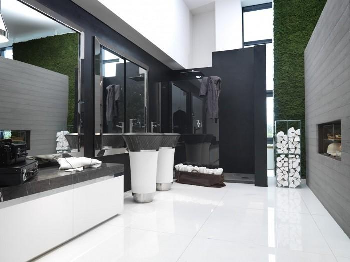 Jardin Vertical Baño:Apartamentos con acento francés, diseños de Margaux Beja