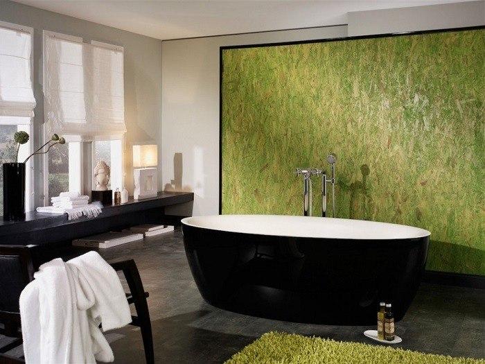 cuartos de bano modernos pared verde llamativo ideas