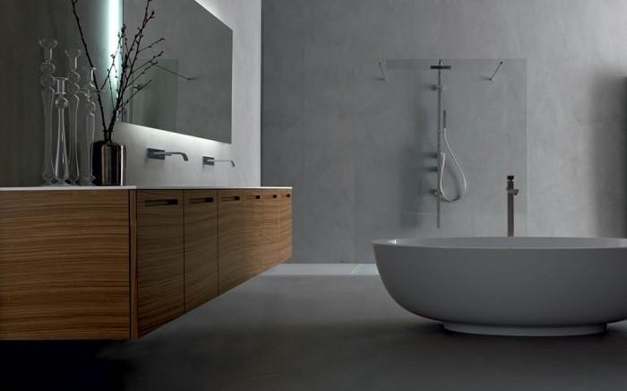 cuartos de bano modernos paredes hormigon ideas