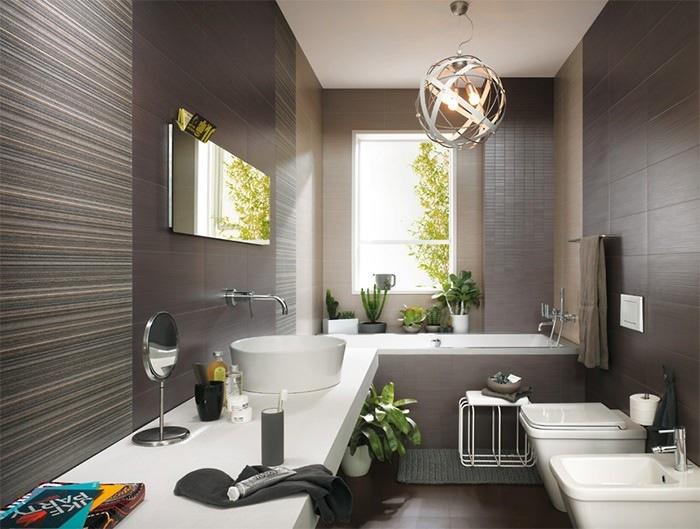 cuartos de bano modernos plantas preciosas ideas