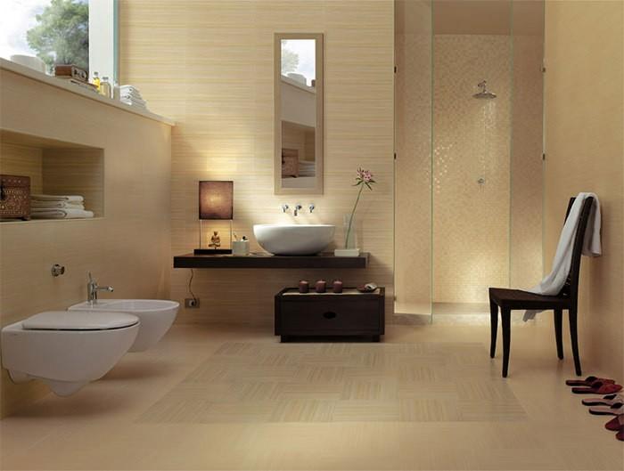 cuartos de bano modernos silla mueble madera ideas