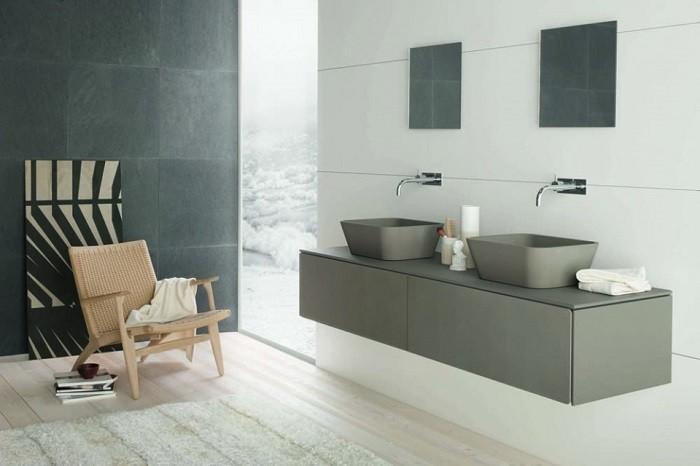 cuartos de bano modernos sillon madera ideas