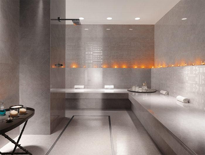 cuartos de bano modernos velas romanticas ideas